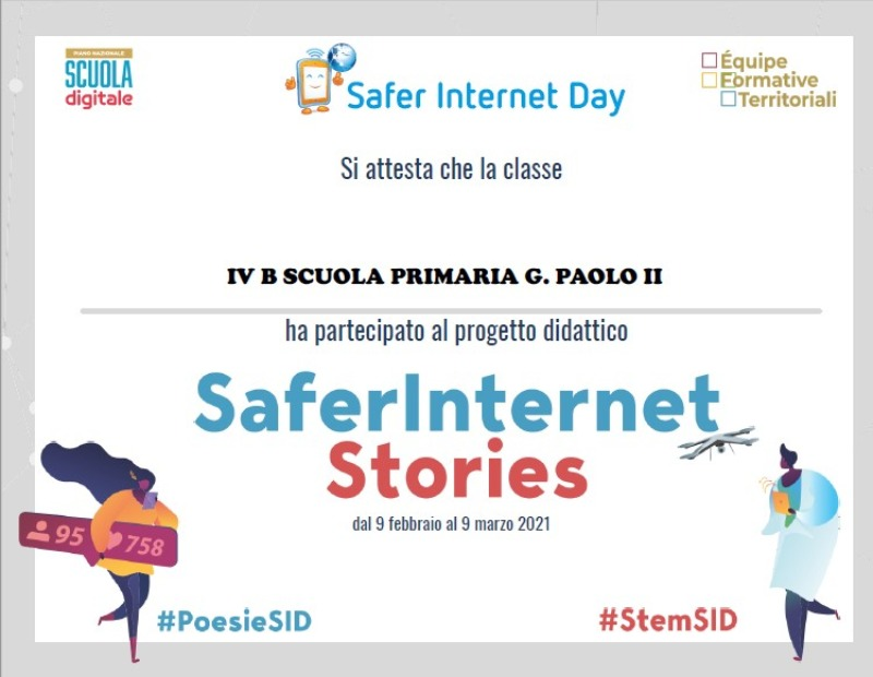 "REPORT E ATTESTATO SAFER INTERNET DAY ""TOGETHER FOR A BETTER INTERNET"""